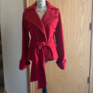 Newport News faux suede wrap coat